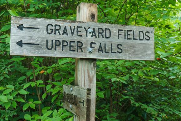Graveyard Fields Sign